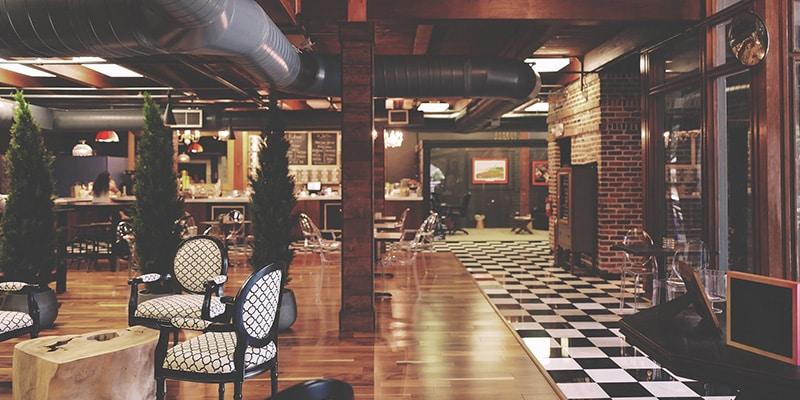 Decoración en los restaurantes de los hoteles