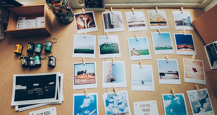 Fotos de viajes estilo polaroid