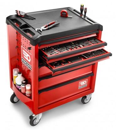 Carro rojo herramientas